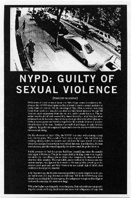 NYPD: Guilty of Sexual Violence