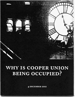 Why is Cooper Union Being Occupied?